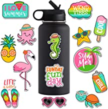 PETYES Cute VSCO Stickers for Hydro Flask Water Bottles - Premium Cool Summer Vacation Laptop Sticker and Decals for Teens, Girls, Women, Feminists, Kids [14PCS]