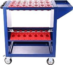 Happybuy Tool Cart Heavy Duty 35 Capacity Tool Trolley CAT40 BT40 Service Cart Tools with 2 Storage Trays (BT40 Blue)