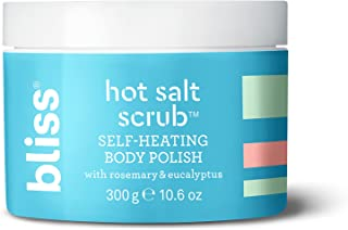 Bliss Hot Salt Scrub, Self-Heating Body Polish | Warming Scrub to Exfoliate, Heal, and Smooth Skin | Straight-from-the Spa...