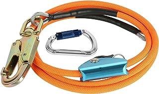 伐採 アーボリスト 鋼線コア 安全ロープ フリップラインキット 超軽量カラビナとロープグラブ付き 安全確保 落下防止一般高所作業安全(12mm*3.0m)