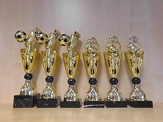 Gold Fußball Pokal Pokale 6er-Serie mit Bälle Turnier Kids Trophäe Gravur a325