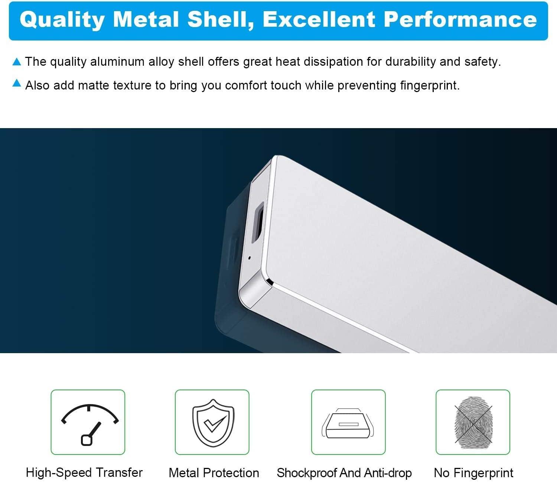 Disco duro externo de 1 TB y 2 TB port/átil de alta velocidad compatible con Mac,PC,Desktop,Laptop 2TB-A, azul