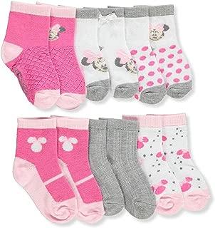 Disney Minnie Mouse Baby Girls' 6-Pack Crew Socks