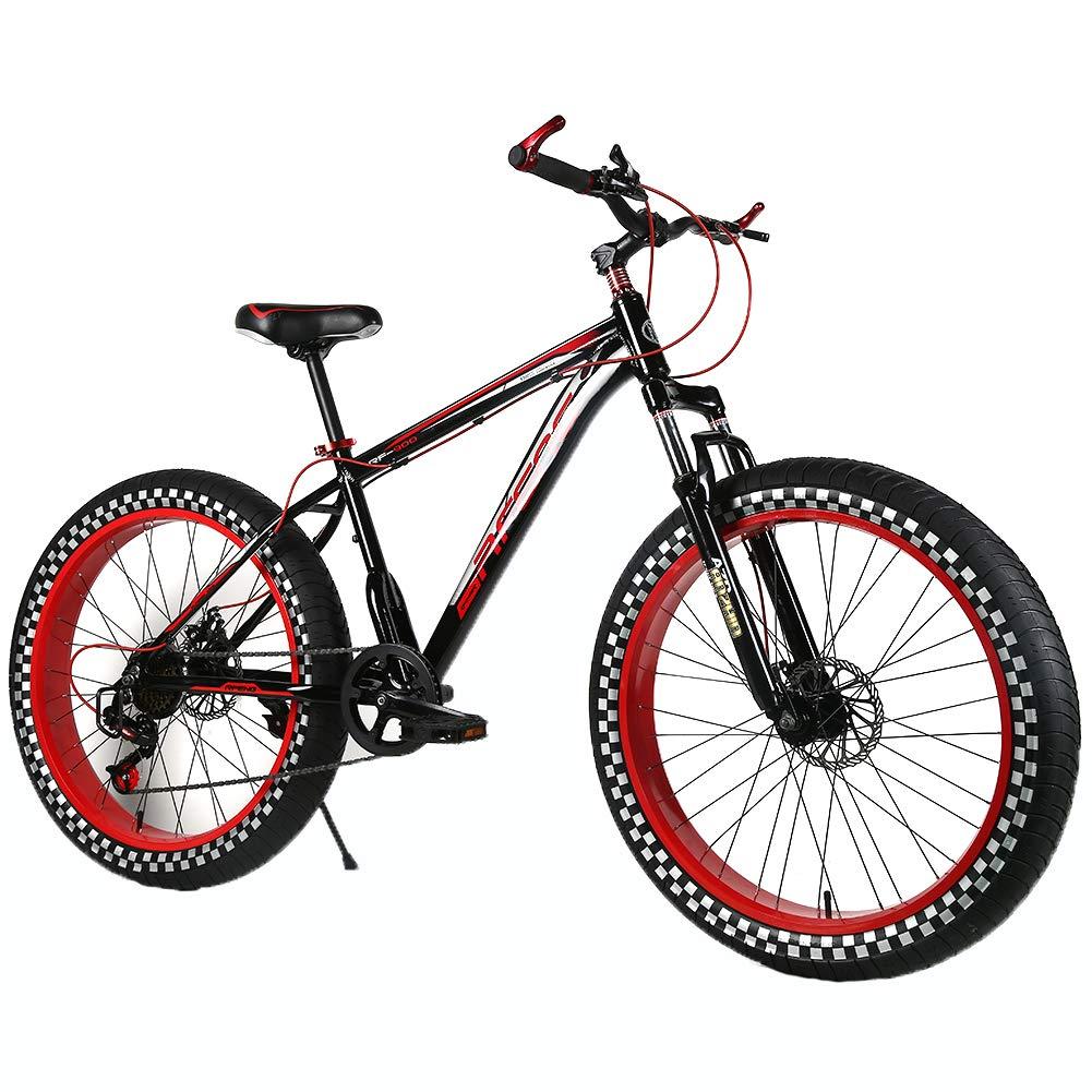 YOUSR Bicicleta de montaña para niños MTB rígida de 24 Pulgadas ...