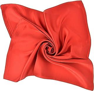 Versatile 100% Mulberry Silk Solid Colour Unisex 53cm x 53cm Bandana Square Scarf Neckerchief Jsmhh