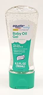 Aloe Vera & Vitamin E Baby Oil Gel by Equate Compare to Johnson's Aloe Vera & Vitamin E Baby Oil Gel