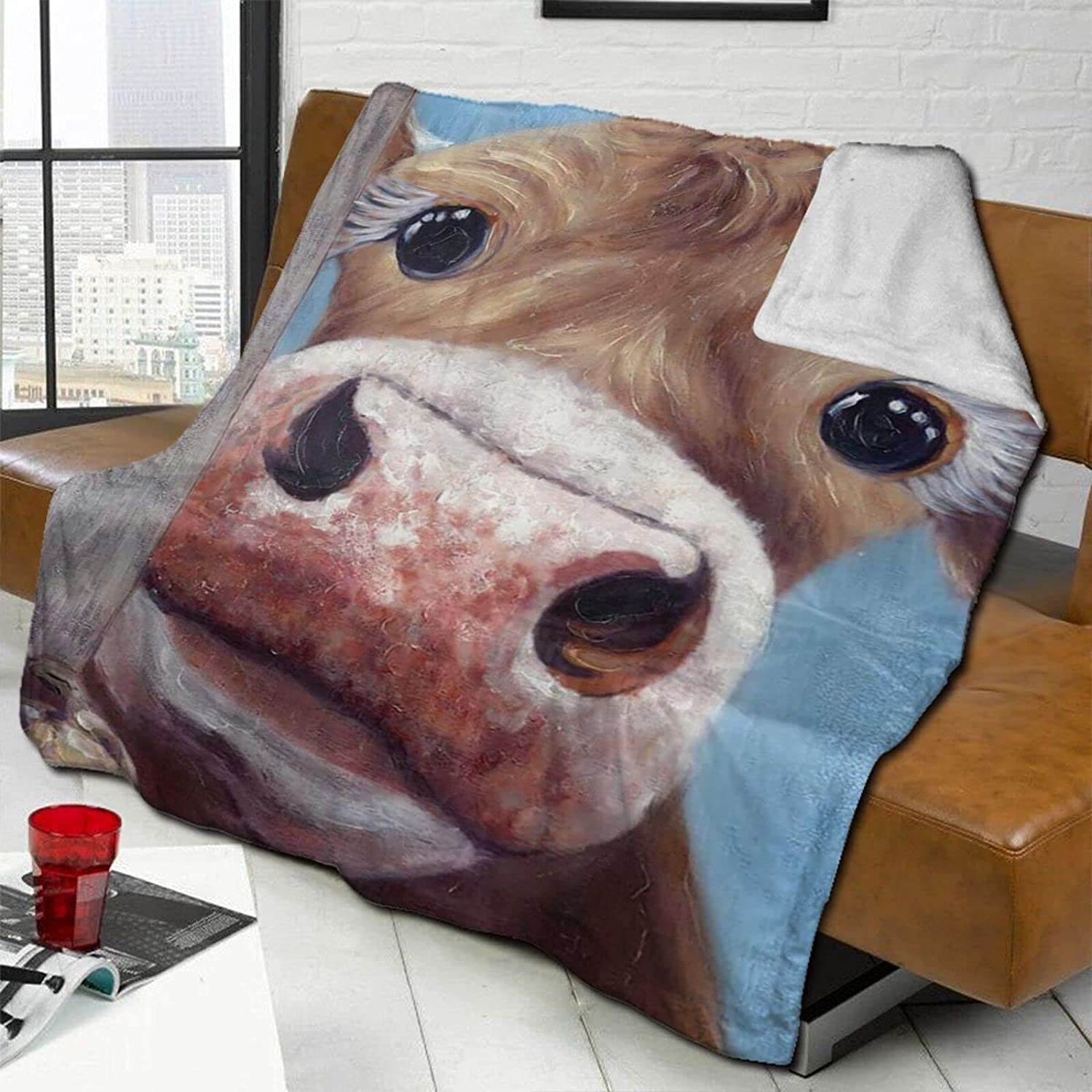 Cute Baby Cows Sale Special Price A surprise price is realized Lamb Wool Throw Be Double-Sided Blanket