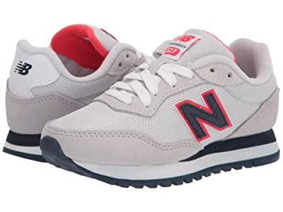 New Balance Kids 527 (Little Kid) (Summer Fog/Energy Red) Boy