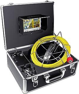 Cámara de inspección de tuberías Drenaje Alcantarilla endoscopio Industrial HBUDS PIC20 Impermeable IP68 Serpiente Sistema de Video con 7 Pulgadas Monitor de Cristal 1000TVL Sony CCD cámara