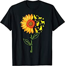 RESCUE SAVE LOVE PET Animal Shelter Sunflower Gift T Shirt