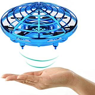 VENAS Flying Ball Toy Drones, Hand-Controlled Drone Quadcopter Flying Toys Interactive Infrared Induction Helicopter Ball with 360°Rotating and Flashing LED Lights for Boys and Girls Kids Gifts