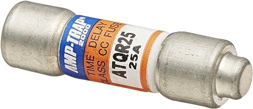 "Mersen ATQR Time-Delay/Class CC Small-Dimension Fuse, 600VAC/300VDC, 200kA AC/100kA DC, 25 Ampere, 13/32"" Diameter x 1-1/2"" Length"