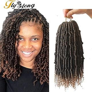 Flyteng Spring Twist Crochet Hair 14 inch Crochet Twists 4 Piece Senegalese Spring Twist Hair Braiding T27