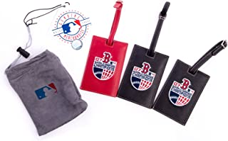Boston Red Sox Leather Luggage Tags - Set of 3