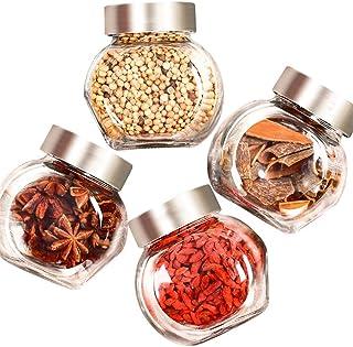 Pots à épices,Boîte d'organisateur de Stockage d'épices, boîte à épices de Cuisine Fournitures de Cuisine Bouteilles en Ve...