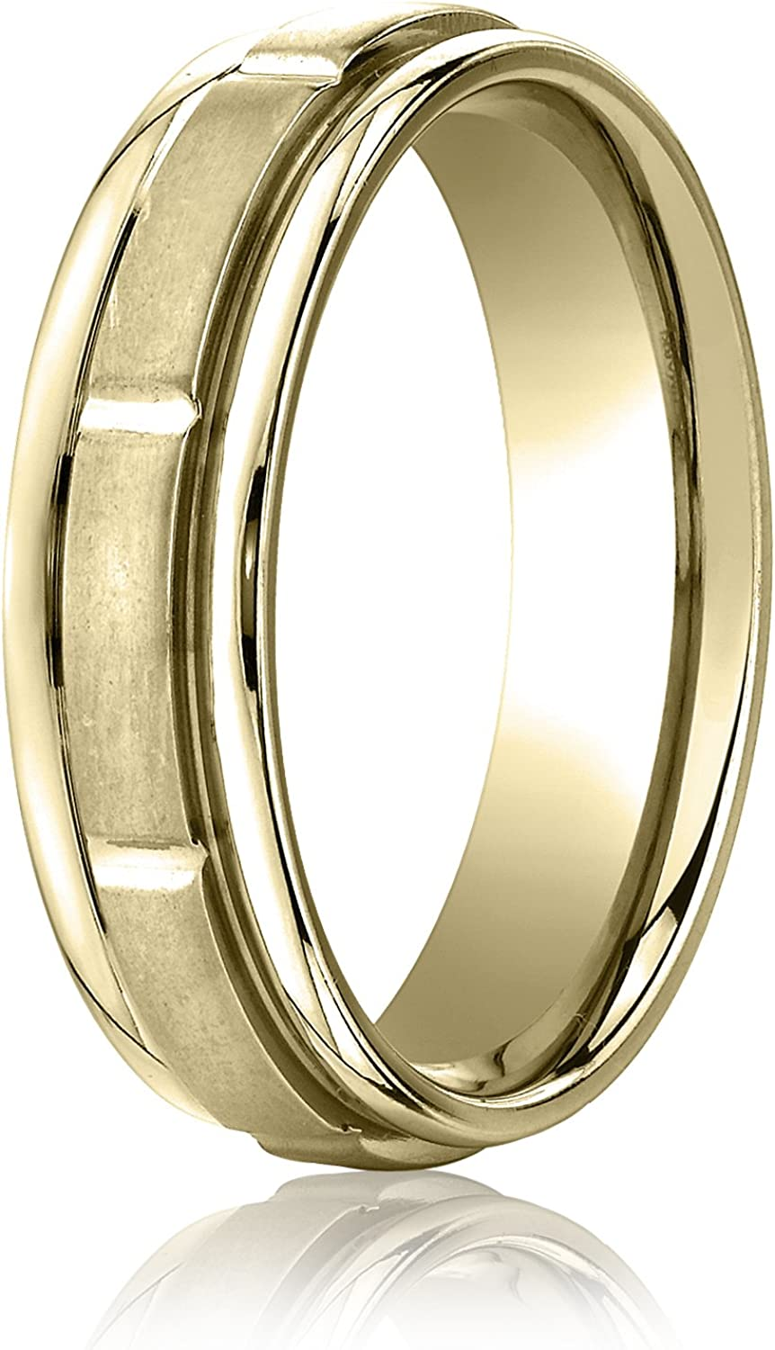 Women's 18K Yellow Gold 6mm Comfort Satin Max mart 65% OFF Round Fit Cut Polished