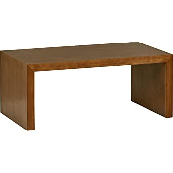 "Amazon Brand – Rivet Modern Coffee Table, 39.37""W, Pine Veneer and Natural Wood"