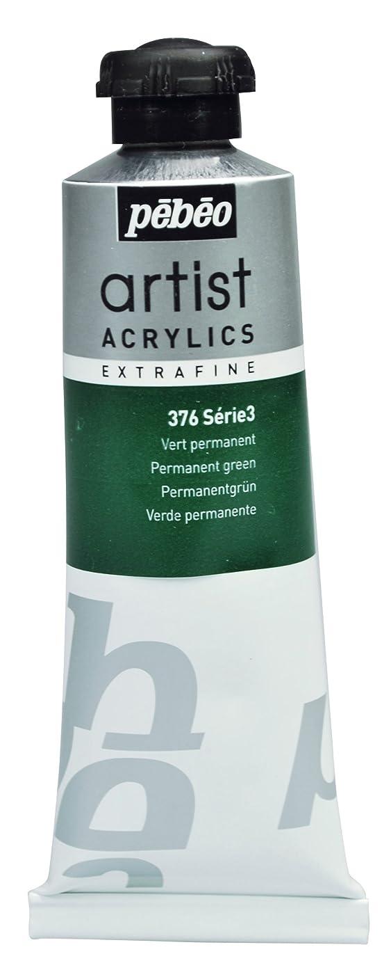 Pébéo Extra Fine Artist Acrylic Art Paint, Permanent Green, 60ml