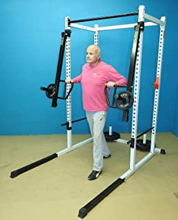 TDS Push, Pull Thruster/Jammer Attachment for Power Racks with 2