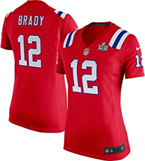 3a33ccb57 NIKE Tom Brady New England Patriots Women s Super Bowl LII Bound Game Jersey  Red
