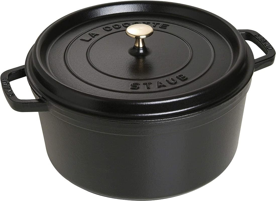 Staub 1103025 Round Cocotte 9 Quart Matte Black