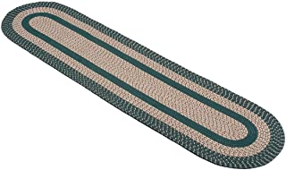 OakRidge Miles Kimball Two-Tone Classic Country Braided Rug, Multiple Size Options – Tightly Woven Braids in Oval Rug of D...