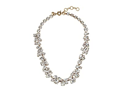 J.Crew Multi Facet Glitz Chain Necklace (Crystal) Necklace