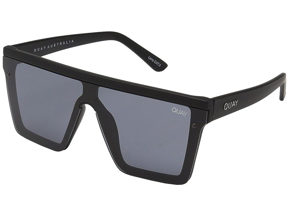 QUAY AUSTRALIA Hindsight (Black/Smoke) Fashion Sunglasses