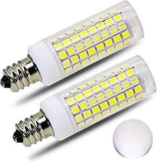 [2-Pack]E12 Led Bulb Candelabra Light Bulbs 8W, 100W (850LM) Equivalent Ceiling Fan Bulbs, Daylight 6000K, LED Chandelier Light Bulbs, LED Candle Bulbs (Base E12) Home Light Fixtures Decorative.