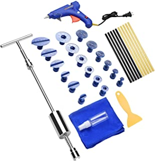 Henergy Car Dent Puller Kit, Paintless Dent Repair Remover, Pro Dent Lifter Tools with Hot Glue Gun Glue Pulling Tabs for DIY Automobile Body Hail Damage Removal