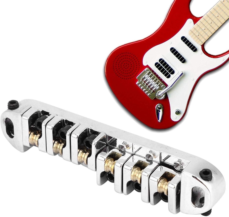 Fybida Puente de Guitarra eléctrica Ajustable para reemplazar cordales de Puente de Guitarra Desgastados, dañados o Viejos. para guitarristas Profesionales
