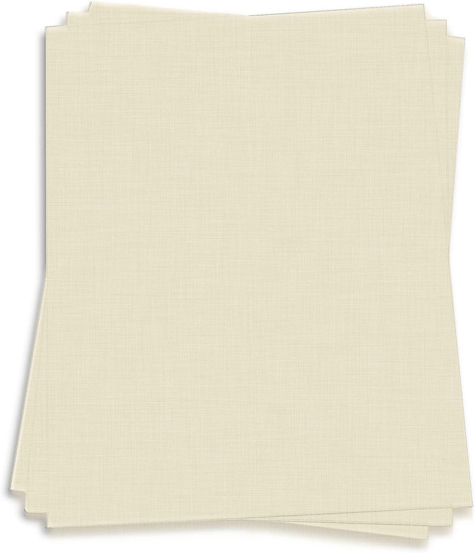 Natural White Card Stock Washington Mall - 12 x Linen 250 Pa Cover LCI 100lb Max 55% OFF
