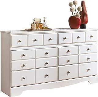 Ashley Furniture Signature Design - Weeki Dresser - 6 Drawers - Classic Contemporary - White