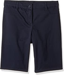 Nautica Girls' School Uniform Stretch Bermuda Short