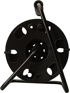 Woods 22849 Metal Extension Cord Reel Stand In Black, Heavy Duty, Quick Snap Together Design, Sturdy and Durable Stand, Easy to Grip Handles, Holds Up To 100 Feet, 14/3 Gauge Cord