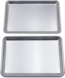 Checkered Chef Baking Sheet Twin Pack – 2 Aluminum Baking Trays 16.7 x 11.8 inches – Rimmed Baking Pans