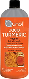 Sponsored Ad - Liquid Turmeric Curcumin, Qunol with Bioperine 1000mg, Joint Support, Dietary Supplement, Extra Strength, 6...