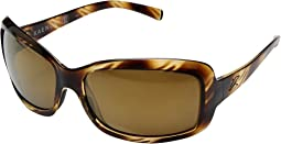 Striped Tort/Brown 12 Polarized Gold Mirror