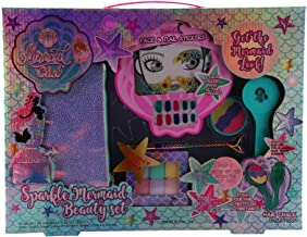 Mermaid Club- Kids Makeup Kit - Designer Girls Makeup Palette for Kids - Packed In a Cute Colorful Vanity w/Mirror- Non-Toxic and Washable (Face and Nail Sticker)