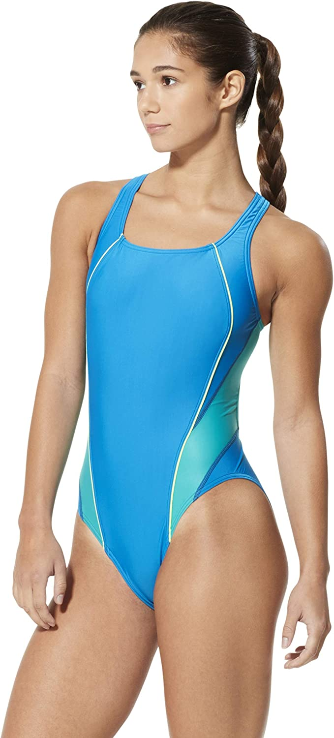 Speedo Women's Max 57% OFF Swimsuit Max 83% OFF One Piece Pro Drop Solid - Manuf Back LT