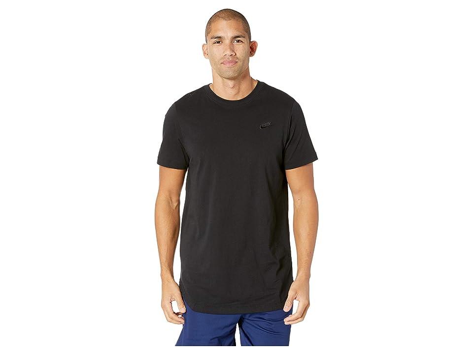 Nike NSW Tee Alt Hem Futura T-Shirt (Black/Black) Men