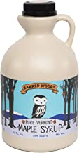 Barred Woods 100% Pure Vermont Maple Syrup - Grade B (Now Known as Grade A Dark Robust) - One Quart Plastic Jug