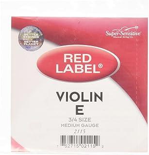 Super Sensitive Red Label String Set Medium Gauge 3/4 Size Violin (2115)