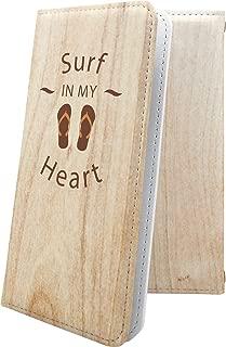 HUAWEI P20 / HUAWEI P10 Plus ケース 手帳型 ビーチサンダル 木目 木目調 ウッド 木 wood ファーウェイ プラス 手帳型ケース ハワイアン ハワイ 夏 海 huaweip10plus huaweip20 ロゴ ワンポイント ロゴ入り 10151-wdices-10001171-huaweip10plus huaw