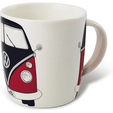 BRISA VW Collection - Volkswagen Furgoneta Hippie Bus T1 Van Taza grande de Café de Porcelana (New Bone China) en Caja de regalo, Copa de Té, ...