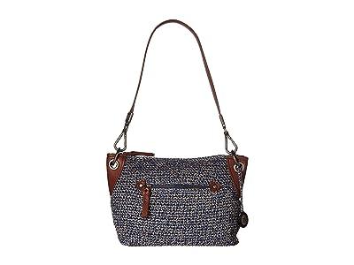 The Sak Indio Crochet Demi Hobo (Denim Static 1) Hobo Handbags