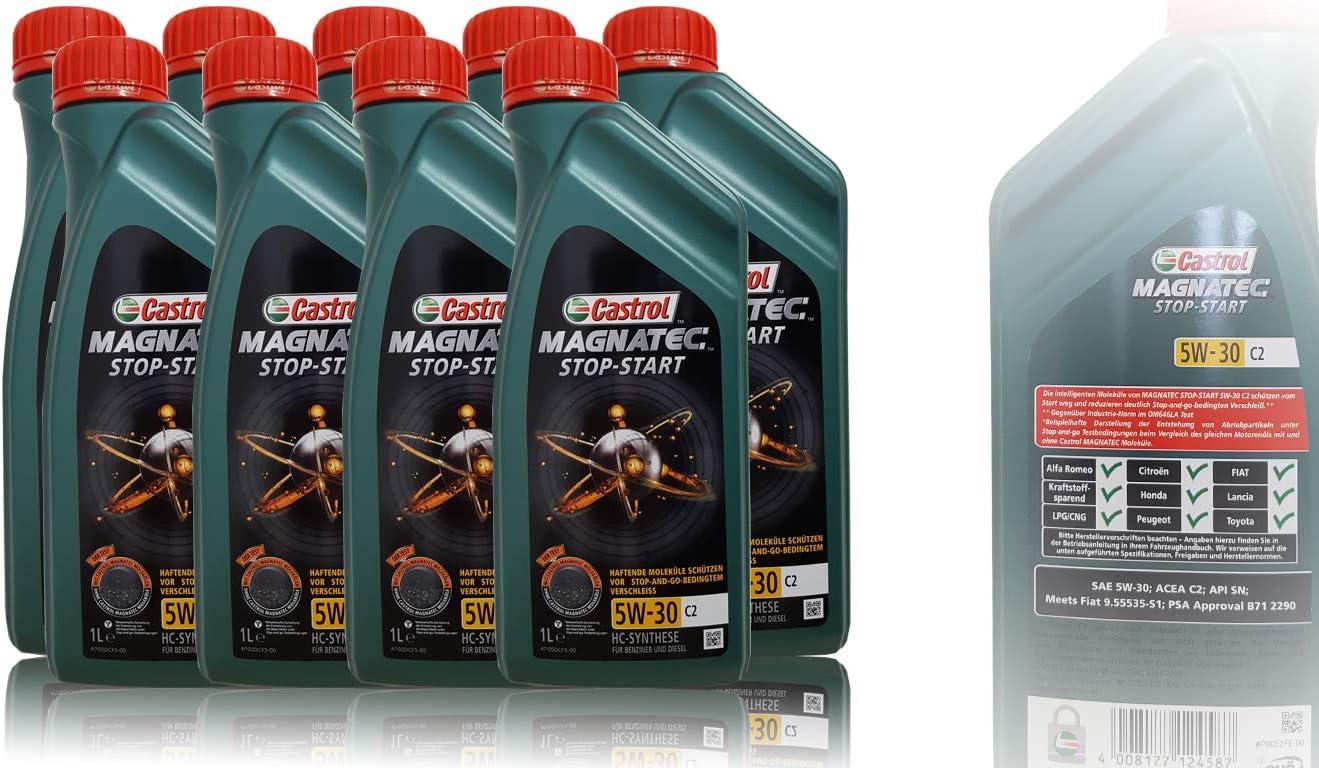 6x 1 L 6 Liter Castrol Magnatec 5w 30 C2 Motor Öl Motoren Öl Spezifikationen Freigaben Acea C2 Psa Freigabe B71 2290 Meets Fiat 9 55535 S1 Auto