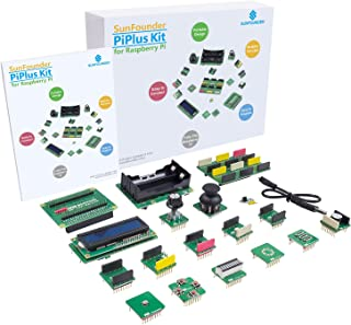 Raspberry Pi Sensor Kit - SunFounder PiPlus 15-in-1 STEM Learning Kit Electronics Building Block with Motion Sensor Joysti...