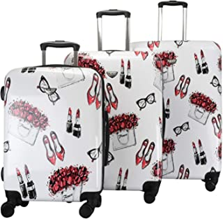 Vue Colorwave Collection Hardside Spinner Luggage - 3 PC Set (Artown)