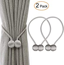 VJK Magnetic Curtain Tiebacks Clips Curtain Buckles Holdbacks Binding Weaving Tie Band For Home Office Decorative Drapes Holders Buckle With Strong 2 pieces